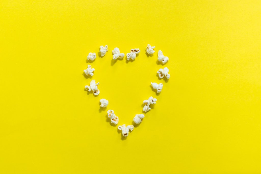 popcorn tanden wit